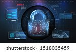 cyber security concept.... | Shutterstock .eps vector #1518035459