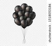 black transparent 3d ballons....   Shutterstock .eps vector #1518053186