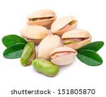 pistachio nuts isolated on... | Shutterstock . vector #151805870