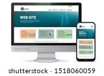 responsive website design with... | Shutterstock .eps vector #1518060059
