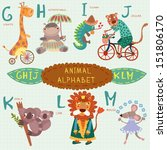 Cute Animal Alphabet. G  H  I ...
