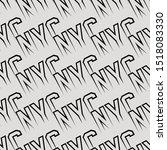 nyc slogan abstract geometric... | Shutterstock .eps vector #1518083330