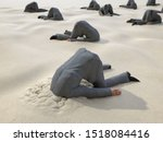 Roup Of Businessmen Hides Their ...