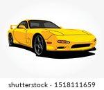 custom yellow car art vector... | Shutterstock .eps vector #1518111659
