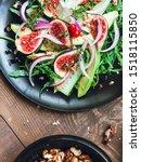 salad on a black matte plate ...