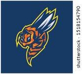 hornet bee mascot logo gaming...   Shutterstock .eps vector #1518154790