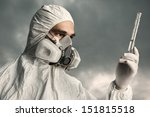scientist wearing a chemical... | Shutterstock . vector #151815518