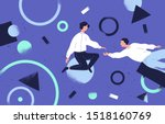 teamwork and support flat... | Shutterstock .eps vector #1518160769