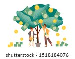 business investment profit flat ... | Shutterstock .eps vector #1518184076