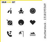 activity icons set with shower  ...