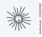 sea urchin icon line symbol....
