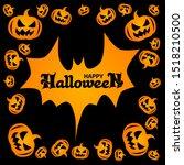 halloween holidays vector... | Shutterstock .eps vector #1518210500