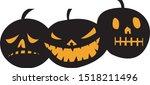 pumpkin evil  in halloween ... | Shutterstock .eps vector #1518211496