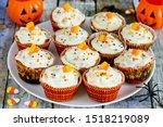 Halloween Candy Corn Cupcakes   ...