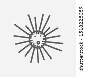 sea urchin icon line symbol....