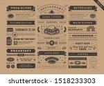 restaurant menu typographic... | Shutterstock .eps vector #1518233303