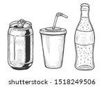 illustration of soda set.... | Shutterstock . vector #1518249506