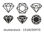 diamond icons set  flat design | Shutterstock .eps vector #1518250970