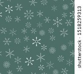 snowflakes in different shapes... | Shutterstock .eps vector #1518259313