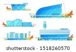 airport building and airplane... | Shutterstock .eps vector #1518260570