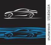 car silhouette. car contour.... | Shutterstock .eps vector #151826114