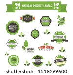 set of organic product label... | Shutterstock .eps vector #1518269600