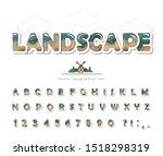 modern landscape font. paper...   Shutterstock .eps vector #1518298319