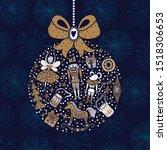Christmas Tree Ball. Gold...