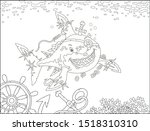 perfidiously smiling great... | Shutterstock .eps vector #1518310310
