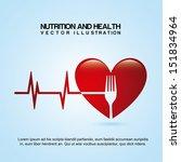 nutrition design over blue... | Shutterstock .eps vector #151834964