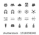 skin care flat glyph icons set. ... | Shutterstock .eps vector #1518358340