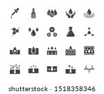 skin care flat glyph icons set. ... | Shutterstock .eps vector #1518358346