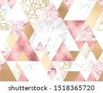vector seamless geometric... | Shutterstock .eps vector #1518365720
