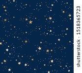 vector seamless galaxy blue... | Shutterstock .eps vector #1518365723