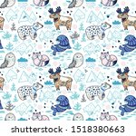 seamless vector pattern with... | Shutterstock .eps vector #1518380663