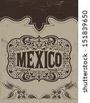 vintage mexico   mexican vector ...   Shutterstock .eps vector #151839650