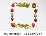 christmas decoration forming a... | Shutterstock . vector #1518397169