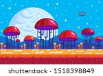 mushrooms area on alien planet. ...