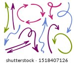 hand drawn diagram arrow icons... | Shutterstock .eps vector #1518407126
