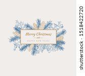 merry christmas abstract... | Shutterstock .eps vector #1518422720