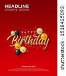 happy birthday background with... | Shutterstock .eps vector #1518425093