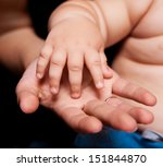 hands of mother and baby ... | Shutterstock . vector #151844870