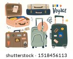 various luggage bags  suitcases ... | Shutterstock .eps vector #1518456113
