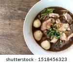thai beef noodles braised taste ... | Shutterstock . vector #1518456323