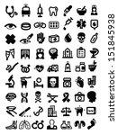 vector black medical icon set... | Shutterstock .eps vector #151845938