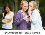 teenage girl being bullied by... | Shutterstock . vector #151845986