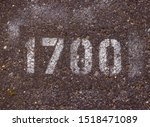 the numbers on the asphalt 1700