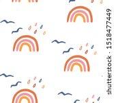 rainbow seamless pattern. fall...   Shutterstock .eps vector #1518477449
