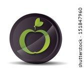apple icon on round button  ... | Shutterstock .eps vector #151847960