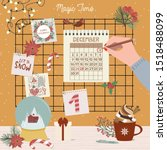 christmas advent calendar  day... | Shutterstock .eps vector #1518488099